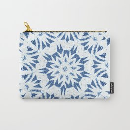 Snowflake Denim & White Carry-All Pouch