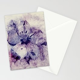 Mixed Purple Hibiscus Stationery Cards