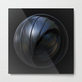 Carbon Sphere Metal Print