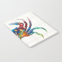 Colorful Crab Art by Sharon Cummings Notebook