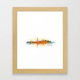 Toronto Canada City Skyline Hq v03 Framed Art Print
