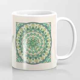 Luna Moth Meditation Mandala Coffee Mug