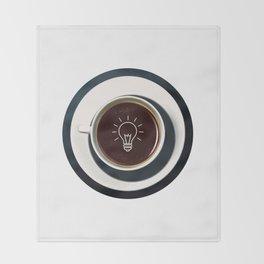 Coffee lights up my idea - I love Coffee Throw Blanket