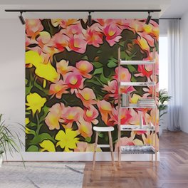 Painted Flowers of Autumn Wall Mural