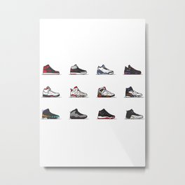 aj 1-12 are my favs especially I, IIi, IV, VI, IX, XI, XII Metal Print