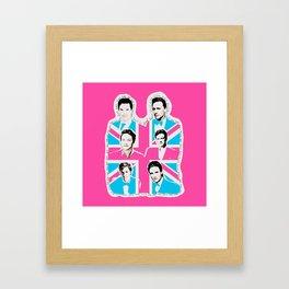 british men Framed Art Print