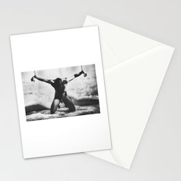 Naked man shackled in a dungeon with heavy iron cuffs #C5635 Stationery Cards