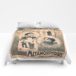Houdini, Metamorphosis, vintage poster Comforters