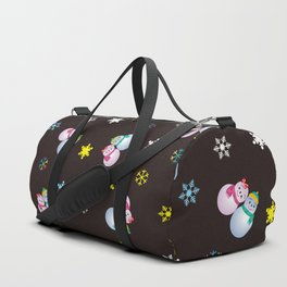 Snowflakes & Pair Snowman_E Duffle Bag