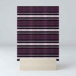 Elegant Bold Purple and Siver Stripes Mini Art Print