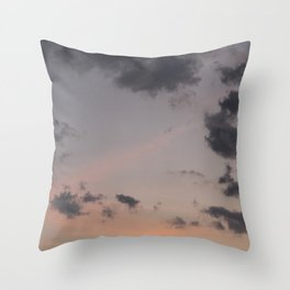 out · sky Throw Pillow