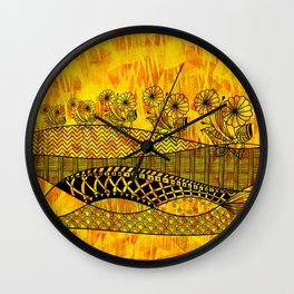 Posey Parade Flowerscape Wall Clock
