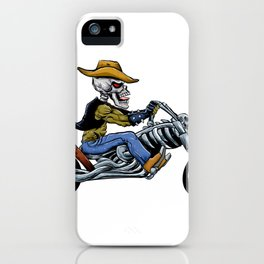 skull ride a big motorcycle iPhone Case