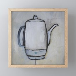 Coffee Pot - Percolator  Framed Mini Art Print