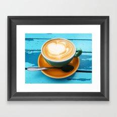 Latte coffee Framed Art Print