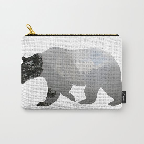 Grizzly Bear with Yosemite Photo Inlay Carry-All Pouch