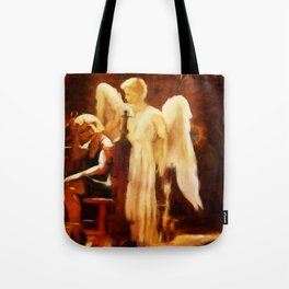SOLACE Grieving Woman With Angel Tote Bag
