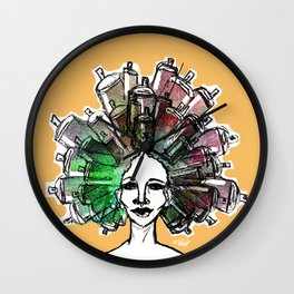 Paint the town Wall Clock