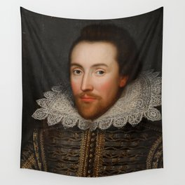 Vintage William Shakespeare Portrait Wall Tapestry