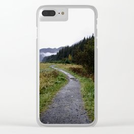 Autumnal Pathways Clear iPhone Case