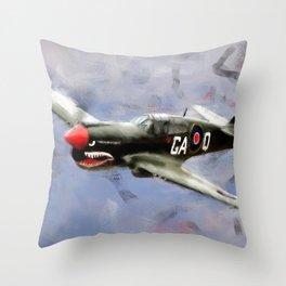 Curtis P-40 Throw Pillow