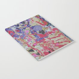 Flame On marbleized print Notebook