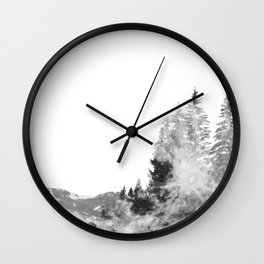 forest on the moon Wall Clock