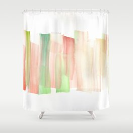 [161228] 19. Abstract Watercolour Color Study|Watercolor Brush Stroke Shower Curtain