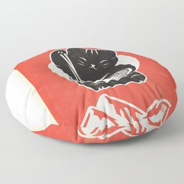 Vintage Kawaii Cat Anime graphic Gift Retro Japanese Style Floor Pillow
