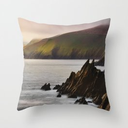 Slea Head in Ireland (RR246) Throw Pillow