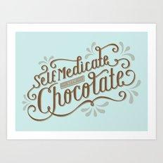 Chocolate RX Art Print
