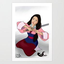 Warrior Kira Art Print