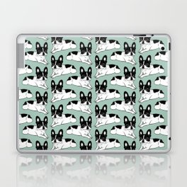 Double Hooded Pied Frenchie Laptop & iPad Skin