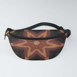 Sparklers // Geometric Abstract Visionary Art Vibrant Energy Healing Chakra Star Red Black Gold Fanny Pack