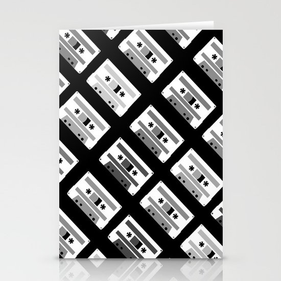 Black and White Tapes 45 Stationery Cards