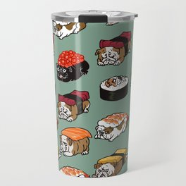 Sushi English Bulldog Travel Mug