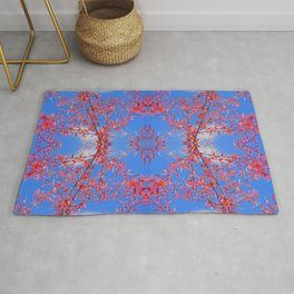red, white and blue Rug