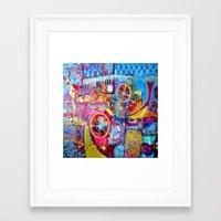 steam punk Framed Art Prints featuring Steam Punk Music Box  by SharlesArt