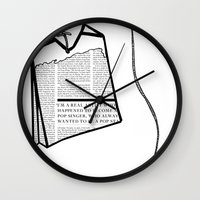 literary Wall Clocks featuring Literary Tea by Lizzi Davis