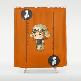 Chibi Heihachi Shower Curtain