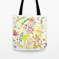 tropical Tote Bags featuring Tropical by Nic Squirrell