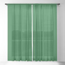 Simply Solid - Forest Green Sheer Curtain