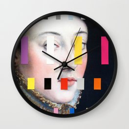 Portrait With A Spectrum 4 Wall Clock