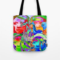 pablo picasso Tote Bags featuring Pop Picasso by Joe Ganech