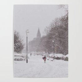 Snow days in the park Poster