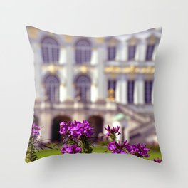 Flowers of castle Nympfenburg Throw Pillow