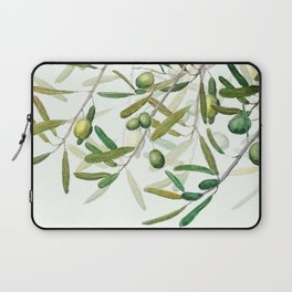 Green Olive watercolor painting Laptop Sleeve