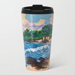 Hawaiian Beach Metal Travel Mug