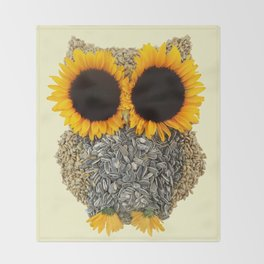 Hoot! Day Owl! Throw Blanket