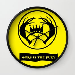 Ours Is The Fury Wall Clock